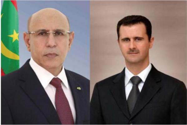 Le Président de la République félicite son homologue syrien
