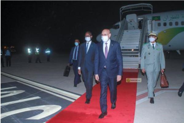 Le Président de la République regagne Nouakchott en provenance de Brazzaville