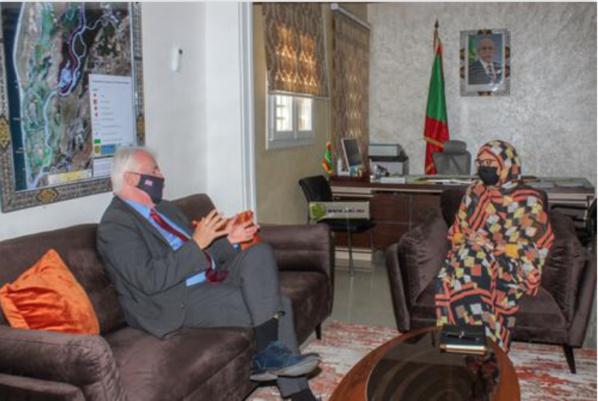 La ministre de l'Environnement et du Développement durable s'entretient avec l'ambassadeur britannique