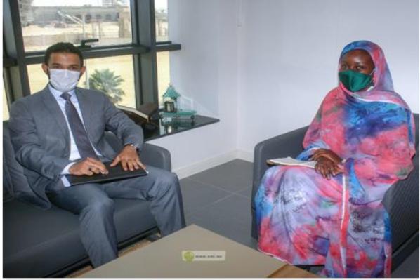 La directrice de l'Agence de promotion des investissements rencontre le chargé d'affaires soudanais