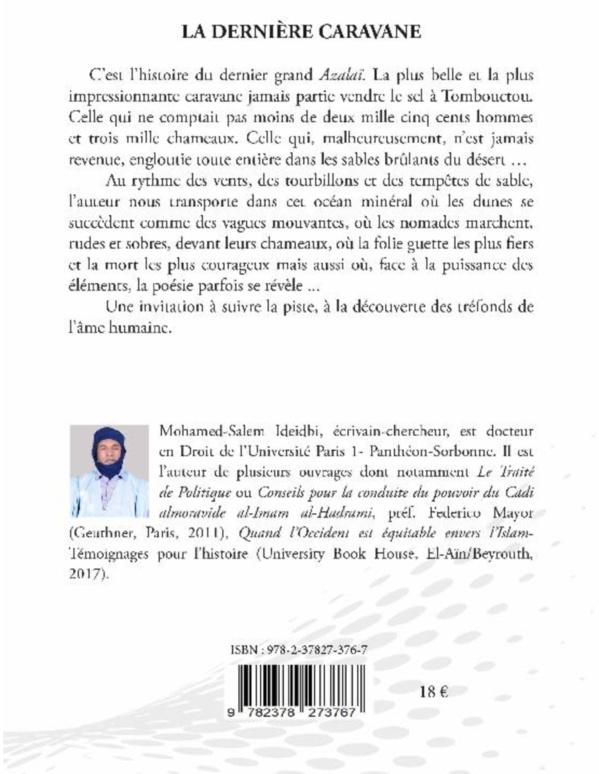 Sortie à Paris d'une nouvelle œuvre culturelle d'un auteur mauritanien