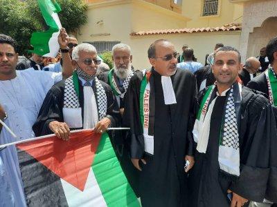 Sit in: Les avocats condamnent les crimes d'Israël contre le peuple de Palestine
