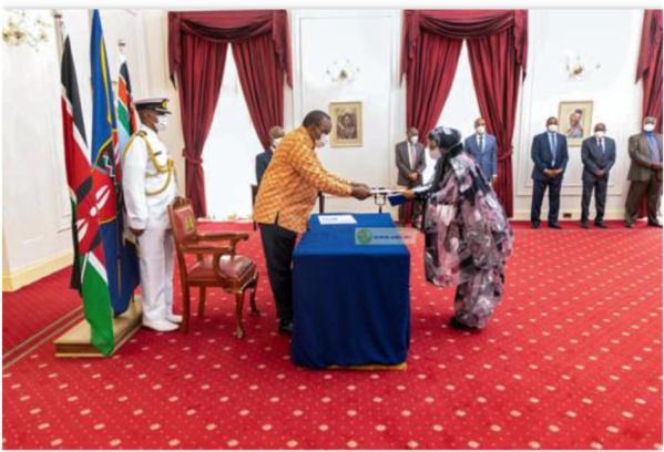 L'ambassadrice de Mauritanie au Kenya remet ses lettres de créances