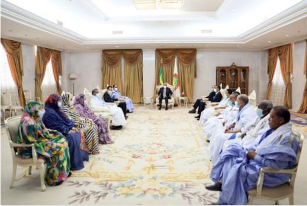 Le Président de la République reçoit les députés de l'UPR du Hodh Charghi