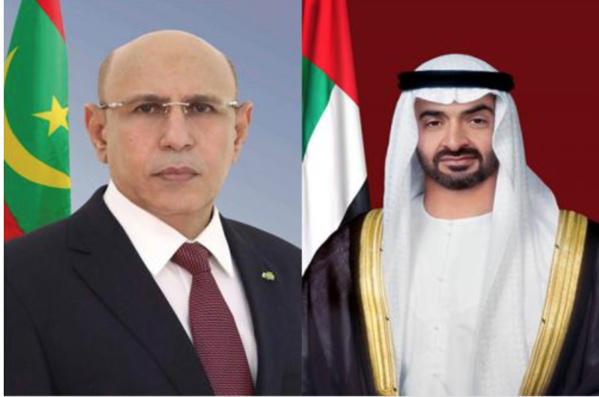 Le Président de la République reçoit un appel téléphonique du Prince héritier des Émirats Arabes Unis