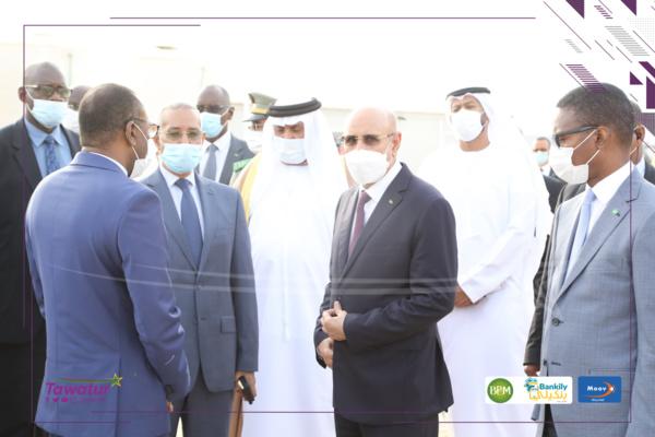 Nouakchott : Le Président de la République inaugure l'hôpital mobile Mohamed Ben Zayed