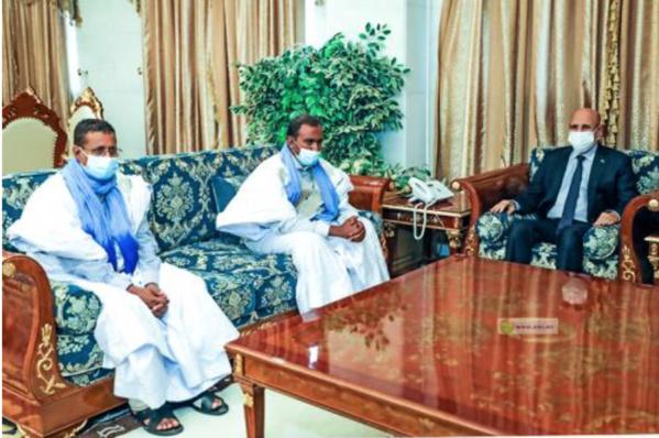 Le Président de la République reçoit nos compatriotes qui étaient enlevés au Mali