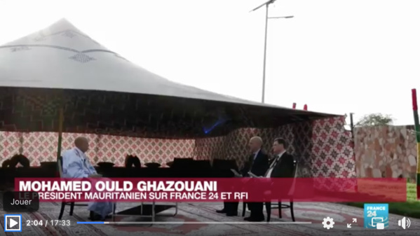 """Le président de la République à France 24: """"Nous avons choisi la voie de la sécurité comme pilier du développement"""""""