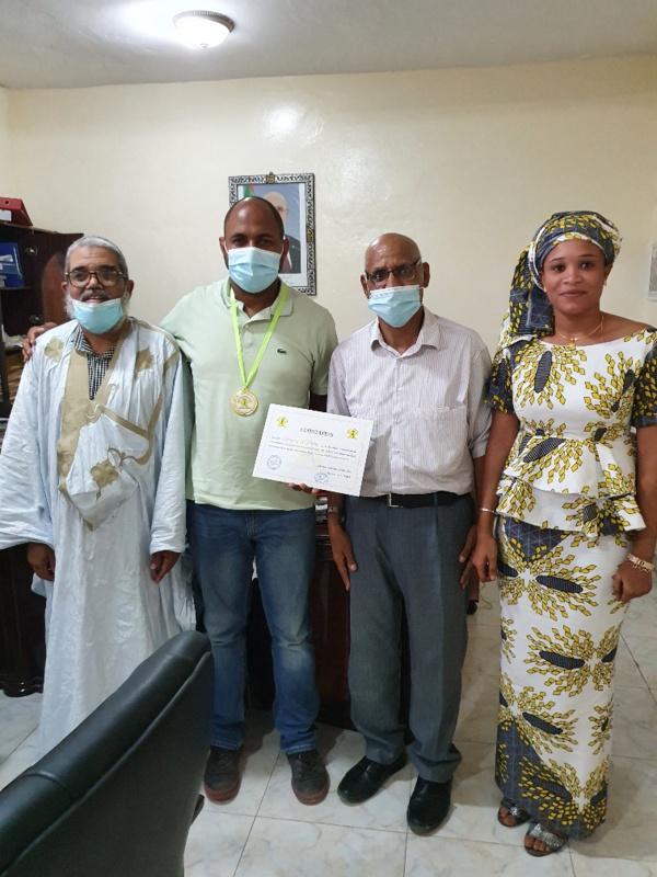 Le maire de sebkha Aboubacar Soumaré  honoré par le marathon international de Nouadhibou