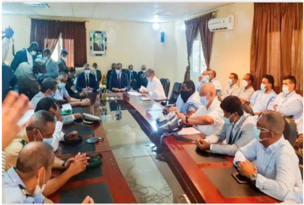 Le ministre des Pêches rencontre les acteurs du secteur de la pêche à Nouadhibou