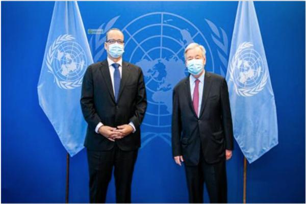 Le ministre des affaires étrangères rencontre le secrétaire général de l'ONU