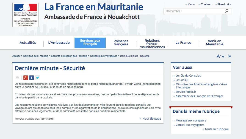 A propos de la française sauvagement agressée à Nouakchott