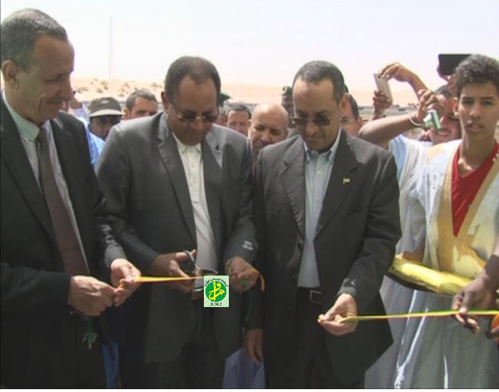 Trarza : Inauguration d'une centrale solaire au village de Tenghadej