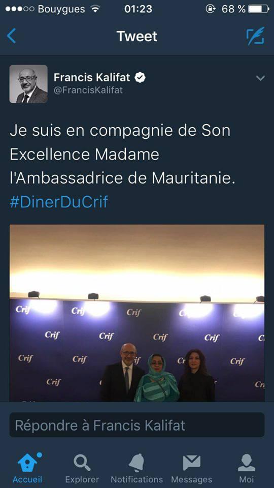 Le coup de notre ambassadrice soutenant le CRIF, le dernier coup d'un génie de la manipulation...