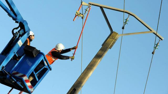 Inauguration d'une ligne électrique reliant les villes Aleg-Boghé, dans la wilaya du Brakna