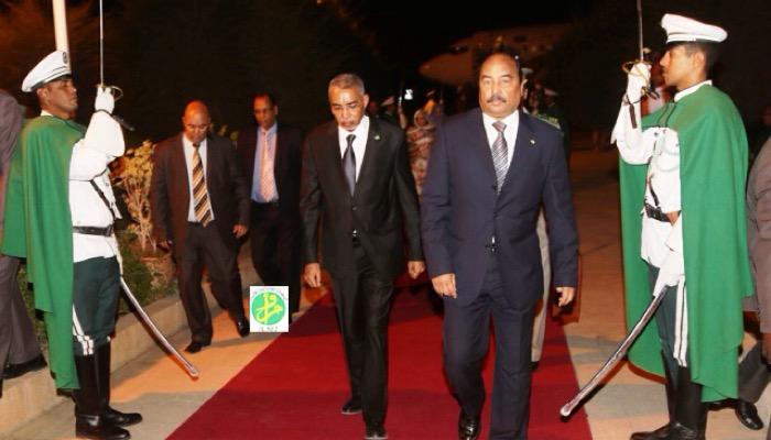 Le président Aziz à Nouakchott après avoir inauguré des projets économiques à Nouadhibou