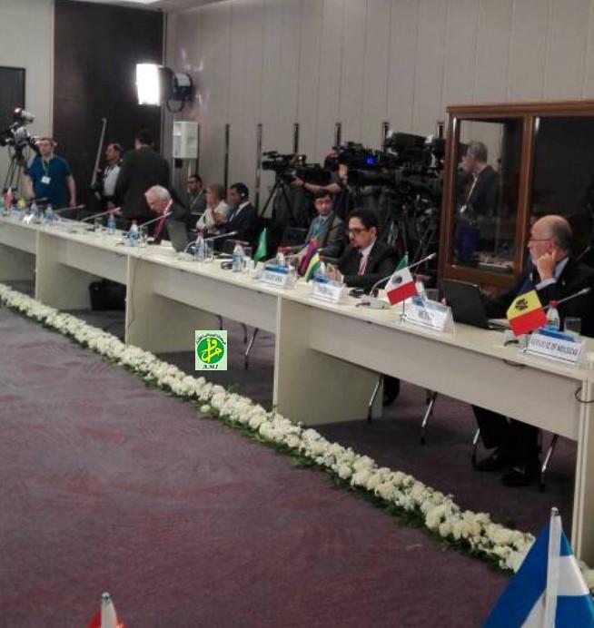 Le ministre de la Culture présente un exposé à la conférence internationale sur le dialogue des cultures à Bakou