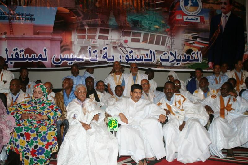 Le rassemblement mauritanien pour la sauvegarde de l'unité nationale organise une manifestation de soutien aux amendements constitutionnels.