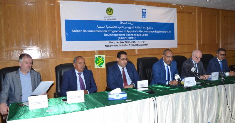 Lancement d'un programme d'appui à la gouvernance régionale et le développement économique local