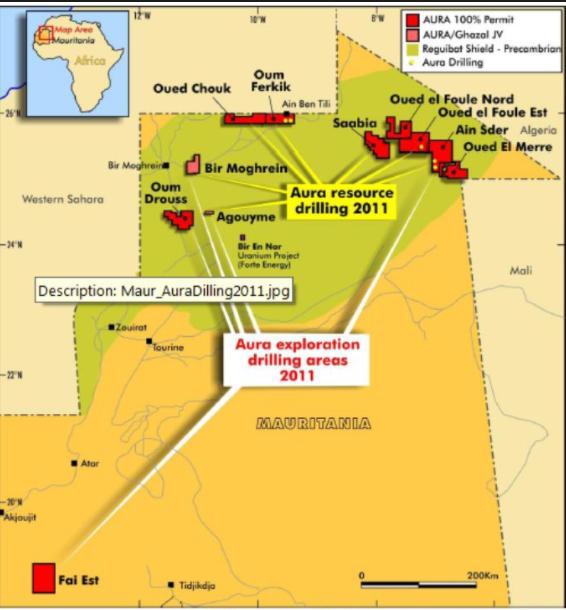 Mauritanie : Aura Energy fait une demande de bail minier pour l'uranium de Tiris