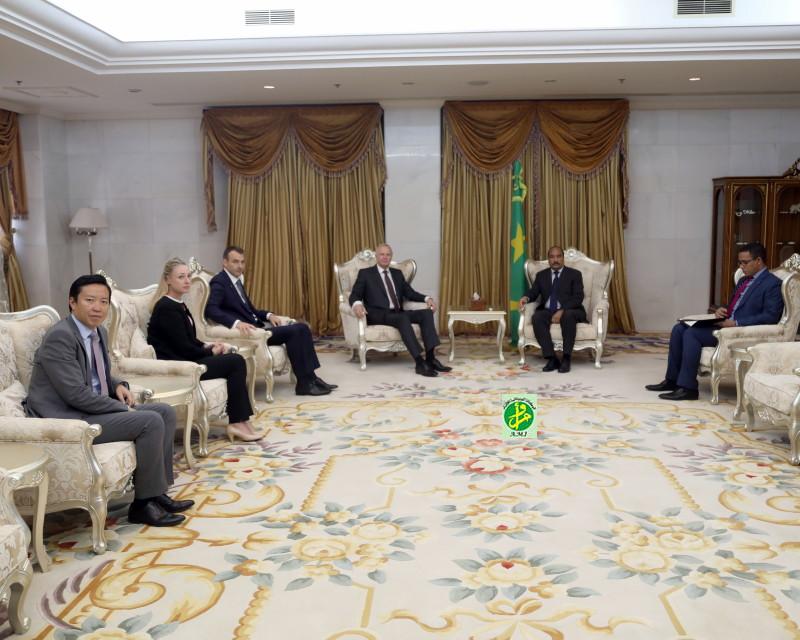 Le Président de la République reçoit une délégation de la société britannique British Petroleum