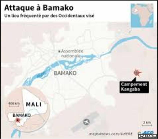 Mali: deux morts dans une attaque jihadiste près de Bamako, plus de 30 civils sauvés