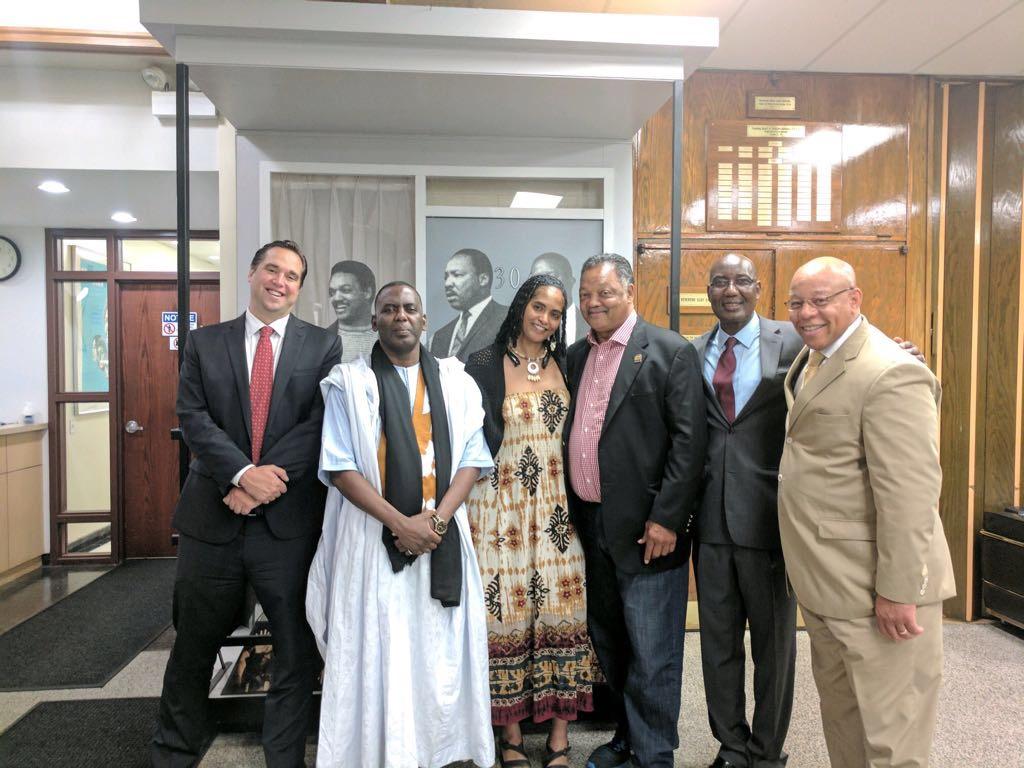 Biram Dah Abeid rend visite au révérend Jesse Jackson