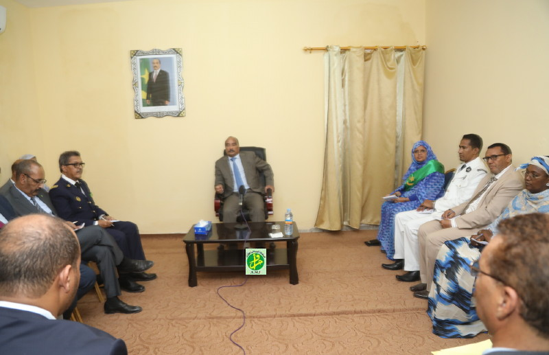 Le Président de la République se réunit avec certains acteurs sociaux et politiques de Tevragh-Zeina