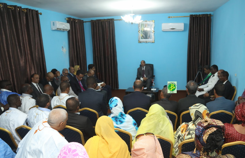 Le Président de la République se réunit avec des acteurs politiques et des citoyens de Dar Naîm
