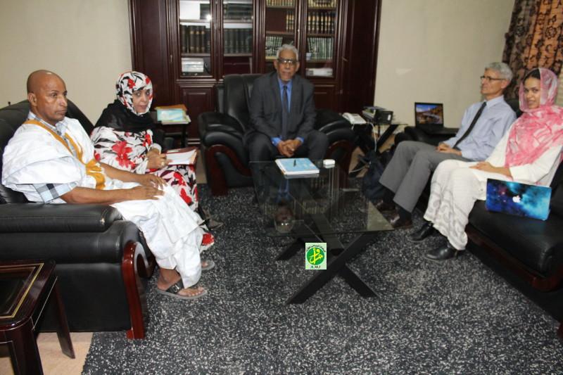 Le ministre de la justice reçoit le directeur du moyen orient et de l'Afrique du Nord de Human Rights Watch