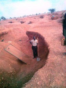 extraction de gravier à Néma