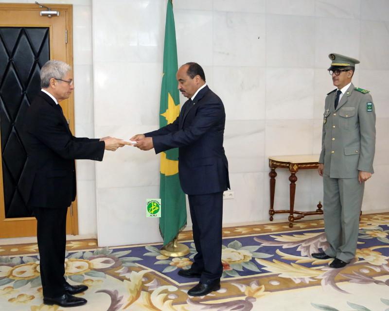 Le Président de la République reçoit les lettres de créances du nouvel ambassadeur du Pérou
