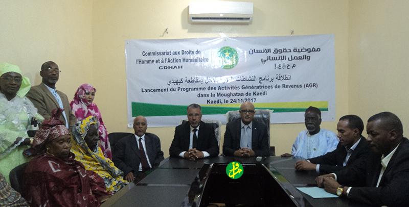 Le commissaire aux droits de l'Homme lance le programme des AGR au niveau de Kaédi
