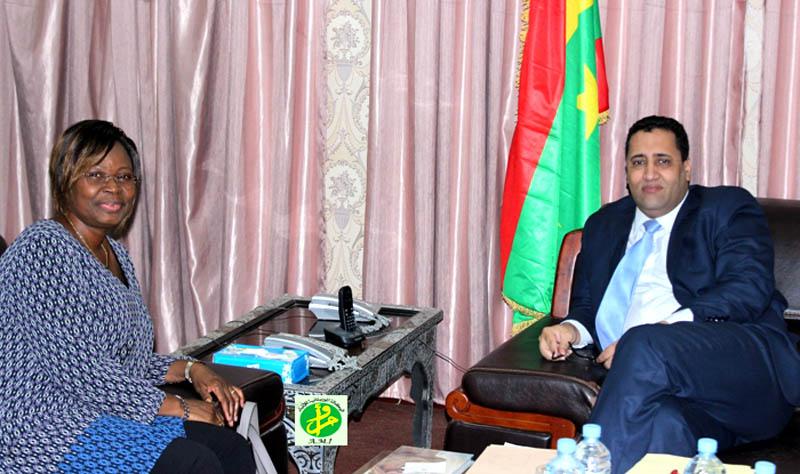 Le ministre de l'Economie et des Finances reçoit la Représentante de l'UNFPA