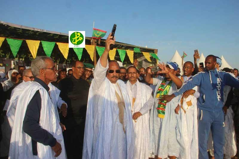 Le Président de la République donne le coup d'envoi de la Coupe du Président de la République du Tir à la Cible traditionnelle