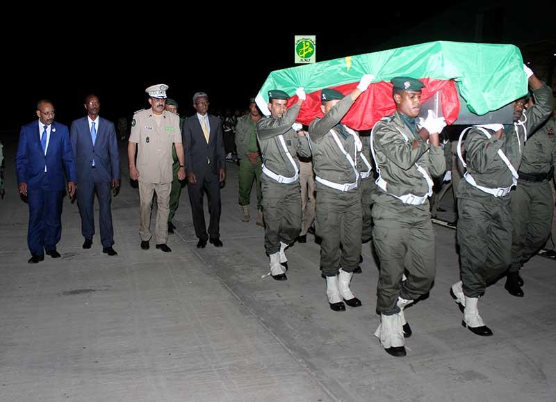 Arrivée à Nouakchott de la dépouille du gendarme martyr en provenance de Centrafrique