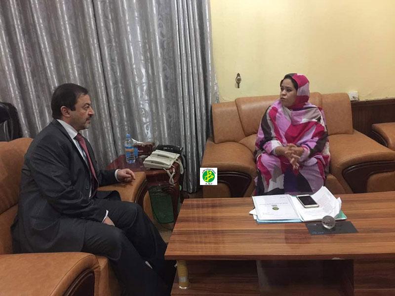 La commissaire à la sécurité alimentaire reçoit le représentant du Haut -Commissariat aux Réfugiés