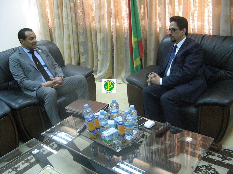 Le ministre de la culture reçoit l'ambassadeur d'Egypte