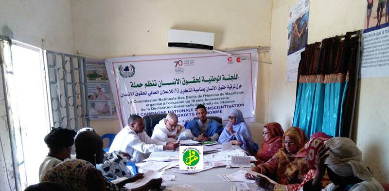 Une délégation de la Commission Nationale des droits de l'Homme effectue une visite à la wilaya de l'Assaba