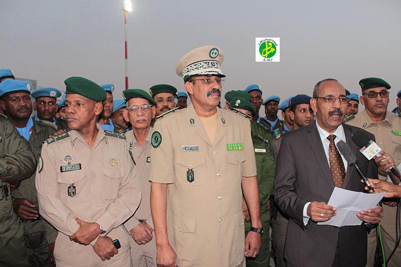 Départ d'un contingent de la gendarmerie nationale à destination de la Centrafrique et retour à Nouakchott d'un autre contingent