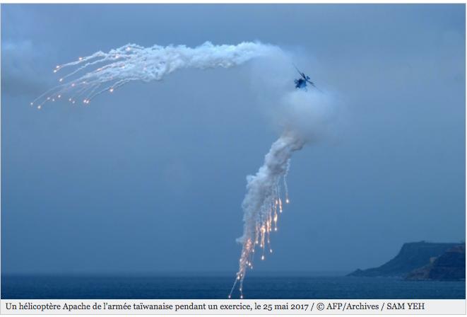 """Exercices militaires chinois: une """"énorme menace"""" pour Taïwan"""