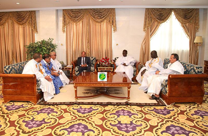 Le Président de la République reçoit d'anciens cadres du parti de l'UFP