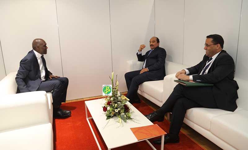 Le Président de la République reçoit le vice-président de la Banque Mondiale pour l'Afrique