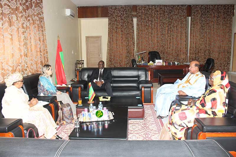 Le président de l'assemblée nationale reçoit la représentante du bureau du Haut-Commissariat aux Droits de l'Homme
