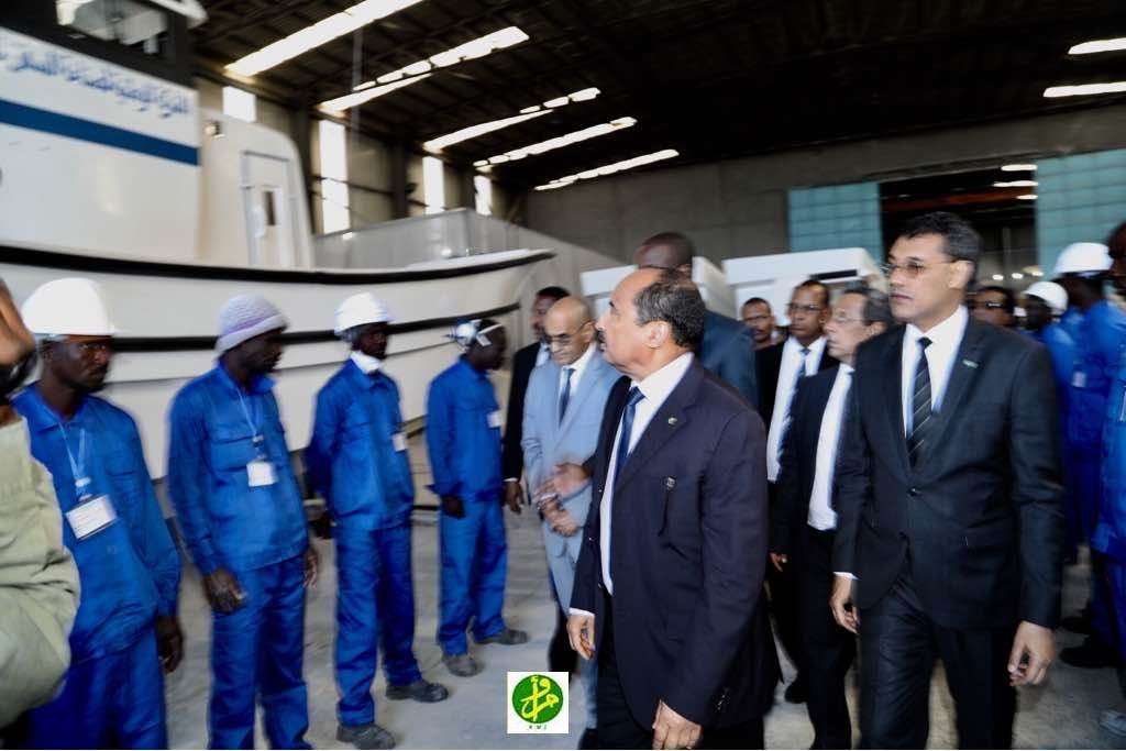 Le Président de la République se réunit avec l'administration de société mauritanienne de construction navale