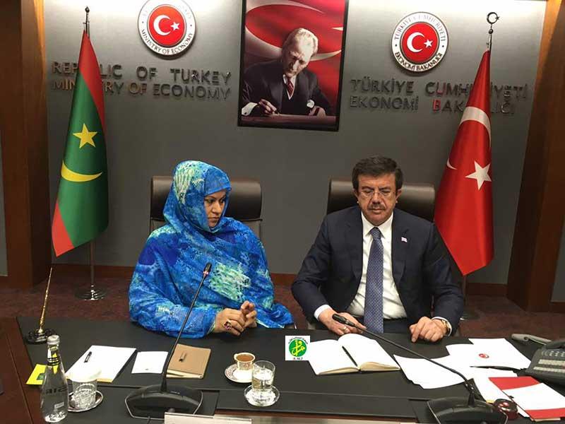 Signature d'un protocole d'accord Mauritano- Turc dans les domaines du commerce et du tourisme