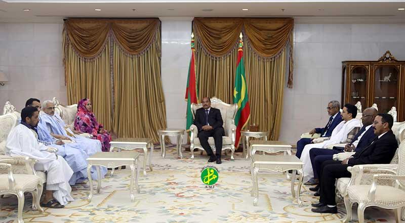 Le Président de la République reçoit un délégation de partis politiques de la majorité