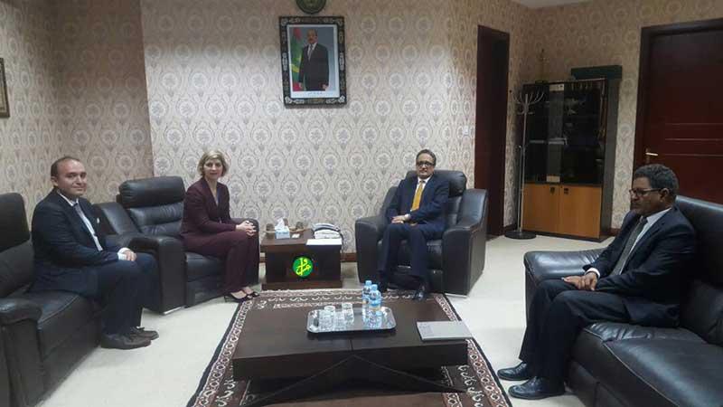 Le ministre des affaires étrangère réceptionne les lettres d'accréditation de la nouvelle représentante de l'OIM