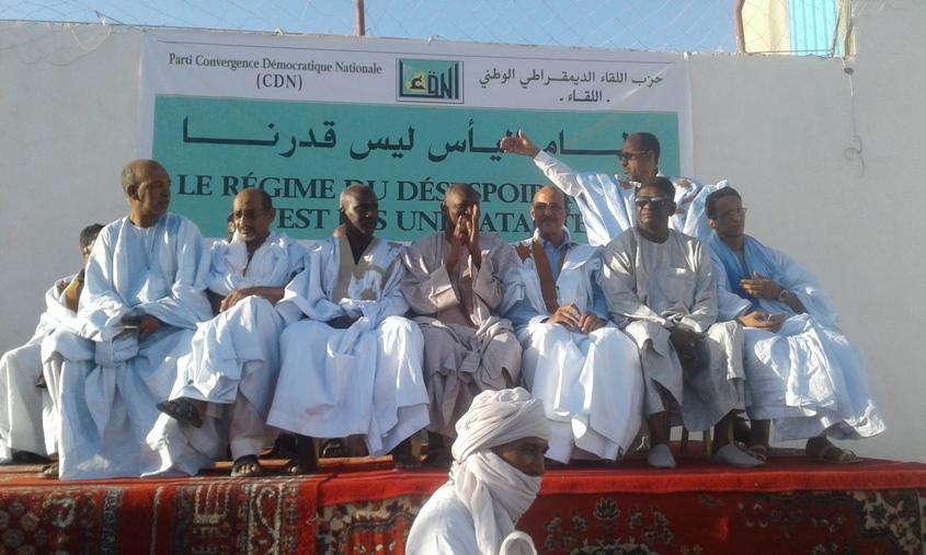 Meeting du parti CDN à Arafat : « Le régime en place n'est une fatalité», dixit Ould Bettah