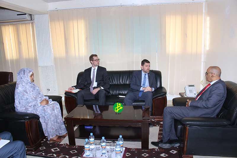 Le ministre des pêches s'entretient avec l'ambassadeur des Etats Unis d'Amérique